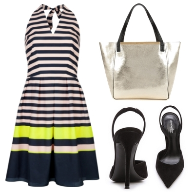 Candy bar stripe dress
