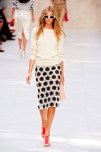 dotted monochrome skirt