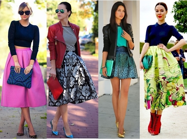match bold shoes and bags