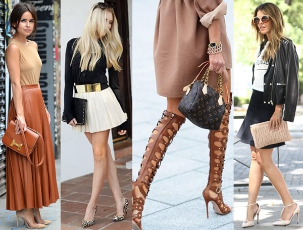 match neutral shoes and bags