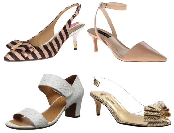 mid-heel sandals and pumps