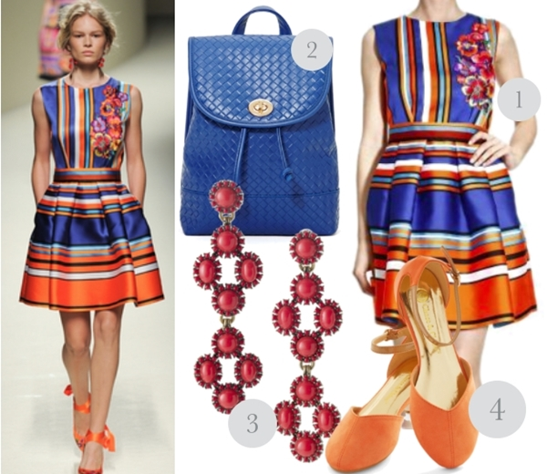bright colors summer work outfit