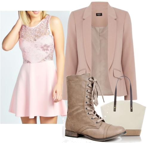 flat lace up boots outfit1