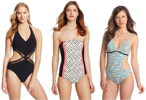 one piece swimsuits with side panel and cutaways