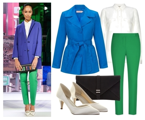 Blue Coat and Green Trousers for Fall