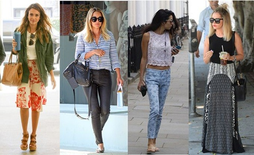 In the Street: Celebrities Wear Breezy Summer Style