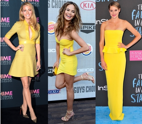 Celebrities wearing yellow for summer