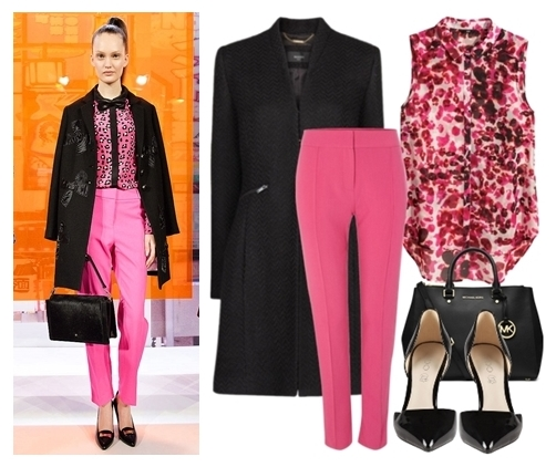 black and pink for fall