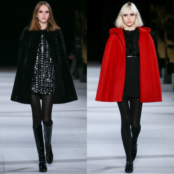 capes for winter runway outfits