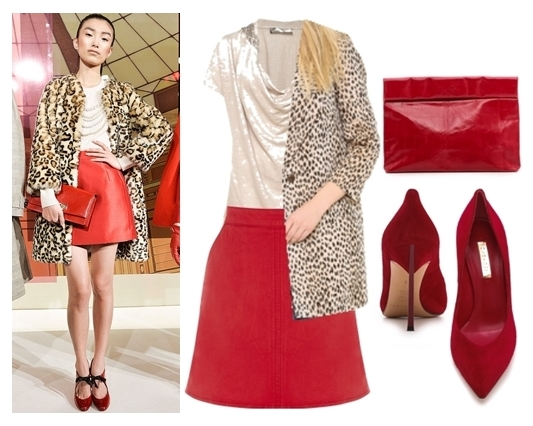 red and animal print for fall