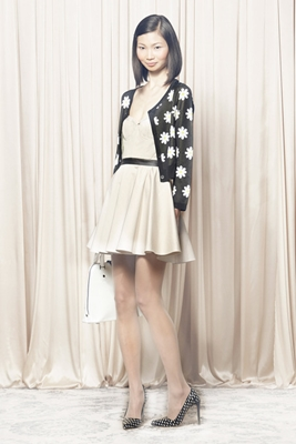 Alice and Olivia black daisy print cardigan