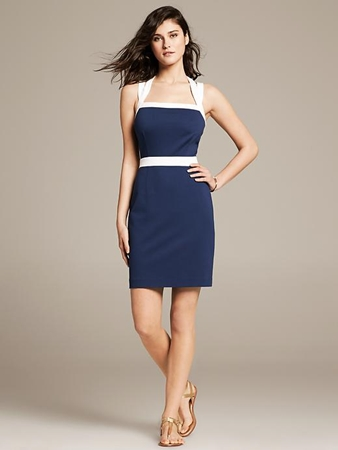 Colorblock Ponte Sheath