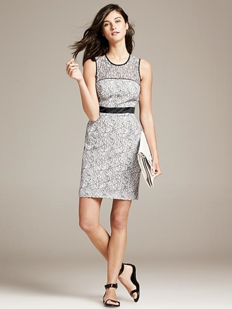 Piped Lace Sheath