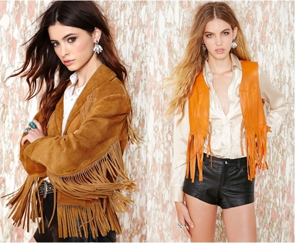 western style fringe jacket and vest