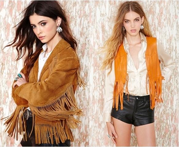 western style fringe jacket and vest