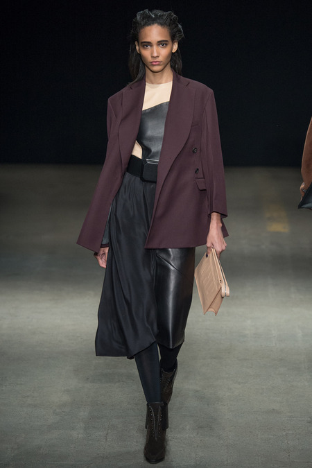 3.1 Phillip Lim Fall 2014 Wine Jacket