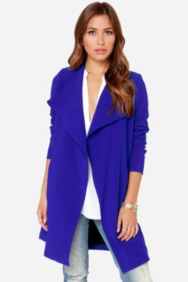 Royal Blue Coat for Fall