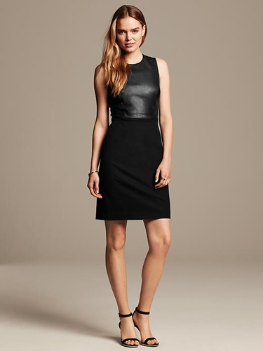 Sloan-Fit Faux-Leather Sheath