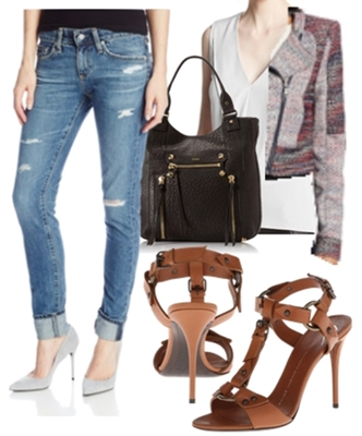 boyfriend jeans and cropped jacket