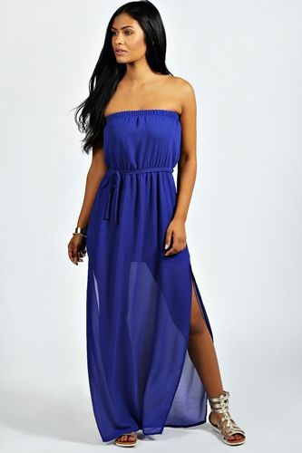Bandeau-Maxi-Dress-With-Side-Split