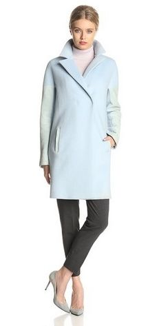 Elie Tahari Women's Louisa Wool-Blend Coat with Suede Accents