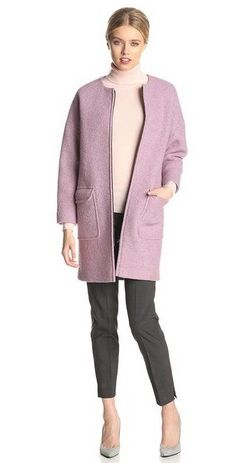 Helene Berman Women's Boiled Wool-Blend Cocoon Coat