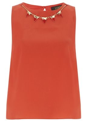 Luxe Watermelon Cut Out Blouse