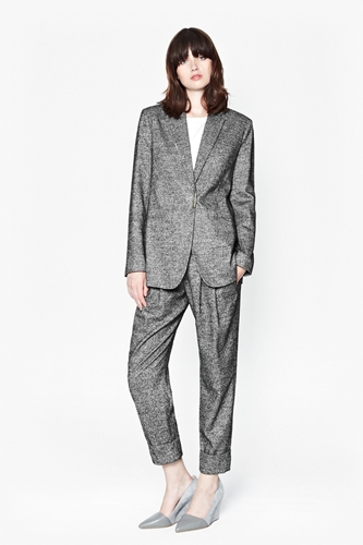 Pepper Fitted Blazer + Gathere Trousers Work Outfit for Women