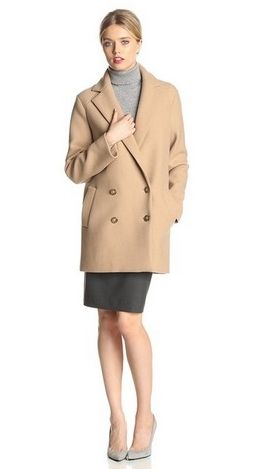Theory Women's Cafe Nest Washed Wool Coat