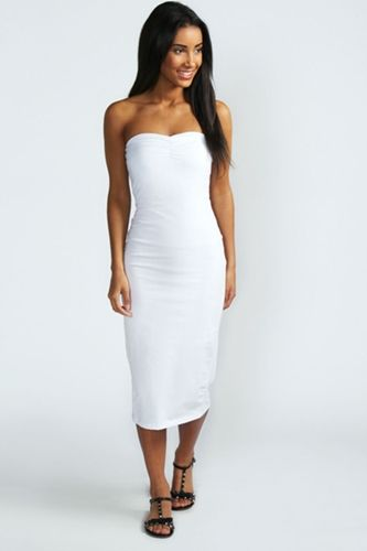 White-Midi-Length-Dress