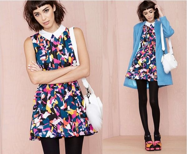 abstract dress mod dress