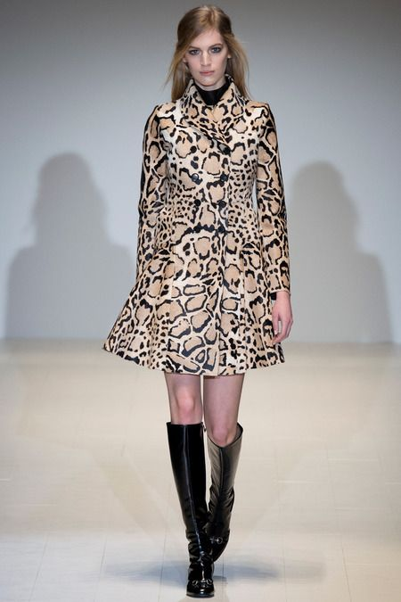animal print dress coat