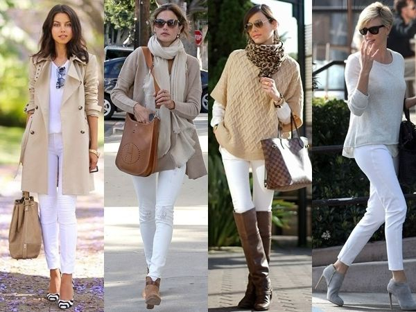 what to wear with white jeans - nude