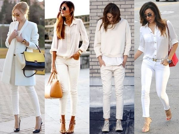 what to wear with white jeans - white