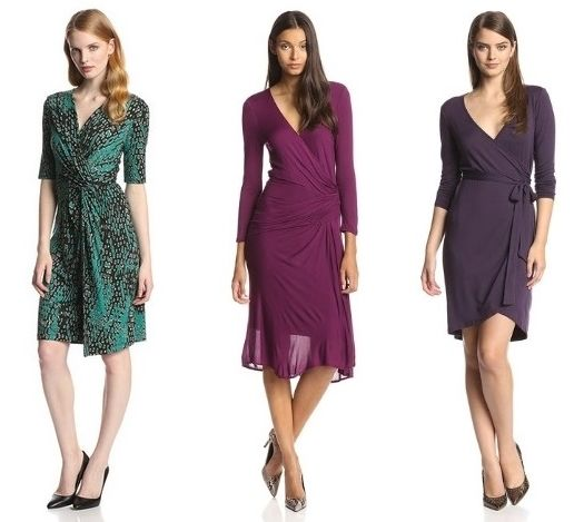wrap dresses for muscular female shape with broad shoulders