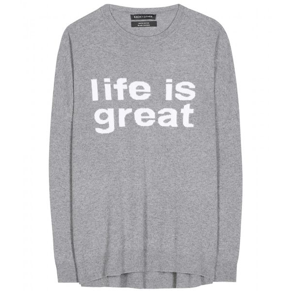 Each X Other Wool and cashmere sweater Life is Great