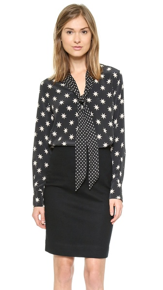 Equipment Penelope Blouse with Polka Dots Contrast