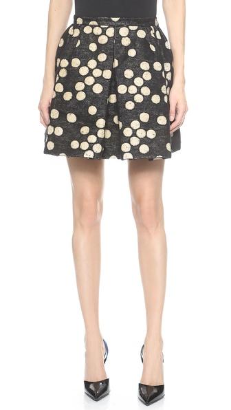 Giambattista Valli Pleated Polka Dots Skirt for Work