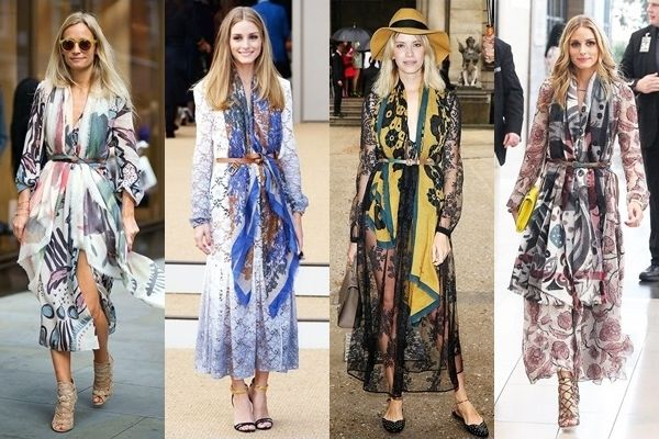 celebrities wearing the belted scarf trend
