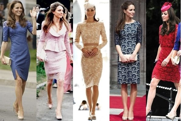 kate middleton in lace dresses
