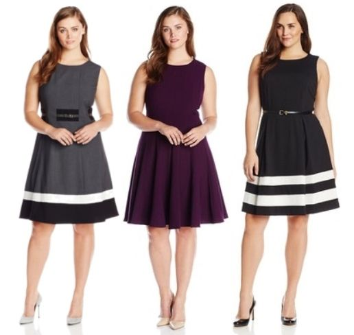 work essentials flare dresses for plus size women
