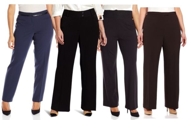 work essentials pants for plus size women