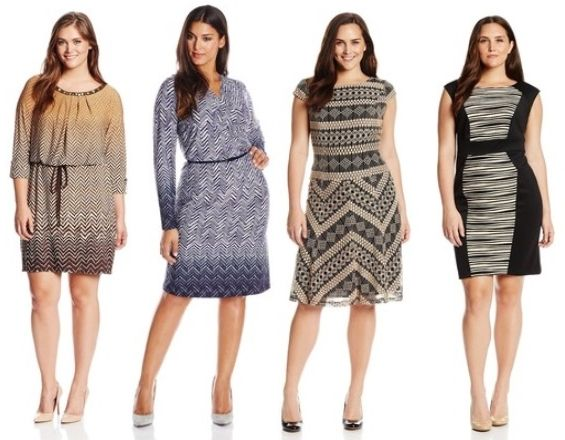 work essentials printed dresses for plus size women