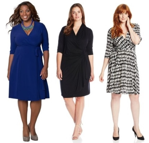 work essentials wrap dresses for plus size women