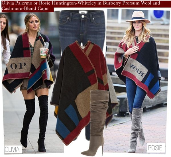 burberry prorsum colorblock cape