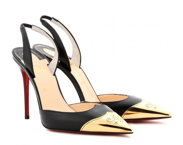 Christian Louboutin - Calamijane 100 leather sling-back pumps