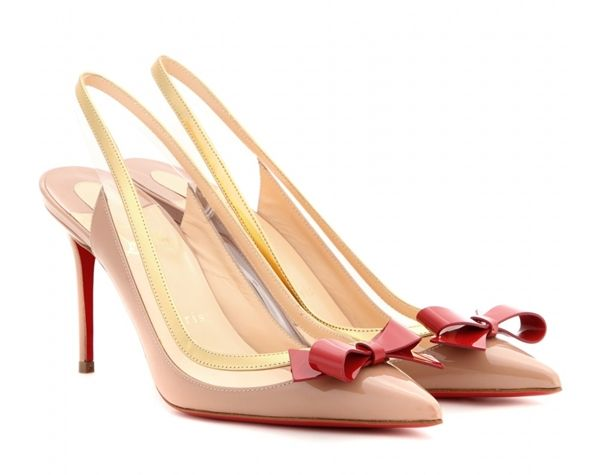 Christian Louboutin - Suspendo Sling 85 patent-leather pumps
