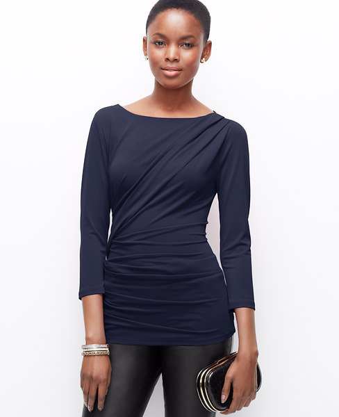 Crepe Side Ruched Top