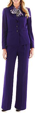 Herringbone Pant Suit with Scarf