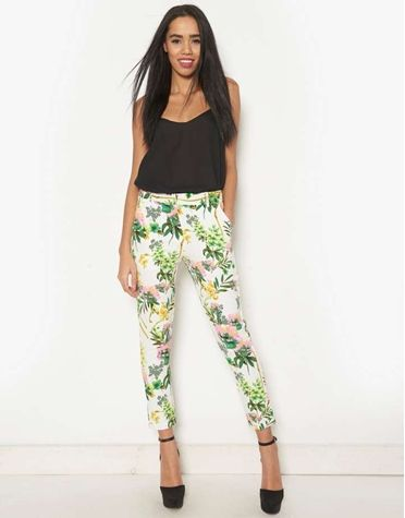 Pink Soda Floral Trousers